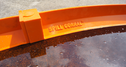 SpillCorral™ rounds up fugitive fluids in industrial settings